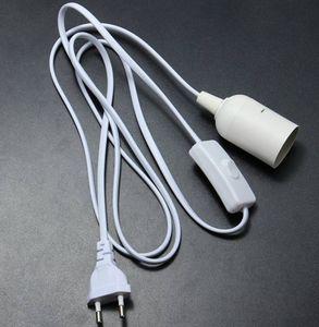 Lamp Base E27 E26 EU Hanging Pendant LED Light Fixture Lamp Bulb Socket Cord Adapter With On Off Switch Lamp Bases Holder