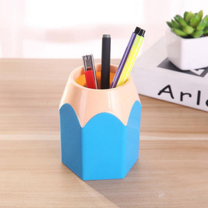 Cute POP Creative Pen Holder Vase Color Pencil Box Makeup Brush Stationery Desk Accessories Gift Storage Supplies