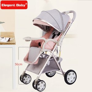 Wholesale Fashion Light Baby Carriage for Traveling Portable Folding Baby Pram Pushchair Folding Baby Stroller Non inflatable Wheel Trolley