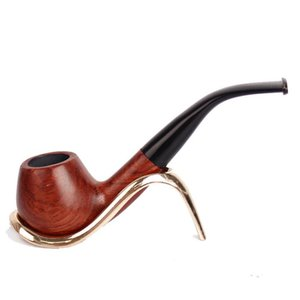 Wholesale red wood smoking pipes resale online - Removable mahogany filter cigarette holder red sandalwood wax pipe retro smoking accessories