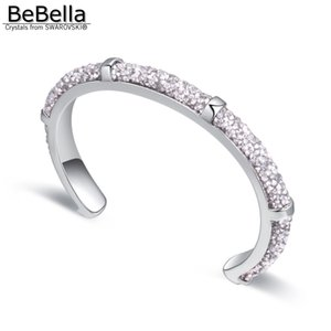 Wholesale BeBella rolled crystal rocks dust cuff bracelet bangle with Czech crystals for women fashion gift bride wedding jewelry