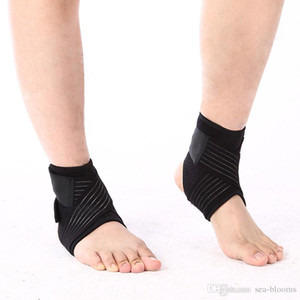Wholesale Sport Breathable Running Basketball Football Ankle Brace Protector Adjustable Support Pad Elastic Black Safety Ankle for Men Women G319S F