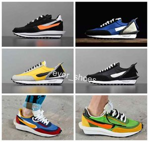 New UNDERCOVER React x Sacai LDFLOW Waffle Racer Running Shoes Daybreak Trainers Mens Fashion Designer AA6853-401 Tripe S Sneakers on Sale