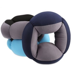Wholesale car sleep pillow resale online - Office Lazy Sleep Annular Nap Pillow Cushion Blinker Circle Neck Protection Travel Pillow Car Soft Comfortable Sleep Shockproof hot sell