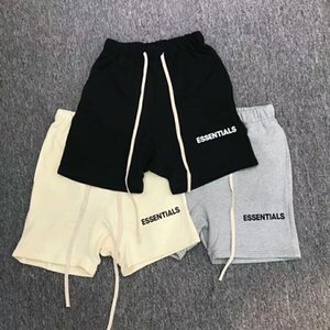 2018SS JUSTIN BIEBER Man Women Fear Of God Essentials Letter Printing Shorts Jogger Drawstring Collection hip hop FOG Shorts S-XL on Sale