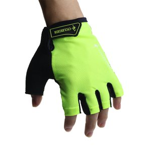 Wholesale Fluorescent Green Black Cycling Gloves Men Women Bicycle Riding Glove luva ciclismo Breathable Net guantes mtb Cycle Bike Gloves