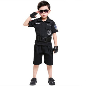 Wholesale black costume for children chinese uniform cosplay clothing clothing halloween cosplay