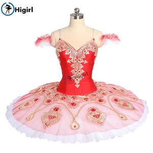 Wholesale Women Red Pink La Corsaire Performance tutu Ballet Stage Costume Gamzatti Professional Ballet Tutus Skirt Ballerina BT9176