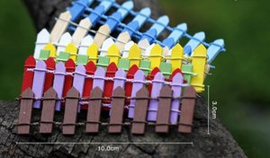 Wholesale Mini Fence Small Barrier Wooden Resin Miniature Fairy Garden Decorations Miniature Fences for Gardens Tiny Barriers Hot Sale