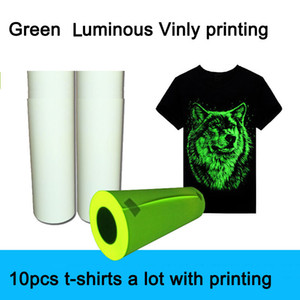 Supply Green Blue Luminous Heat Transfer-film Custom Printing on T-shirts Pu Flex Heat Transfer-film foil to print on Clothes