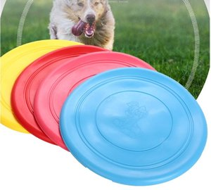 Wholesale Pets Dogs Silicone Outdoor Training Puppy Flying Discs Dog Fetch Toy Pet Dog soft frisbee Tooth Resistant Training Toy