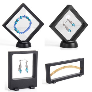 4Pcs Lot Bulk Price Transparent PET Suspension Window Gift Box Watch Genstone Dismond Coin Necklace Jewelry Display Stand Holder Rack on Sale