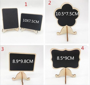 Wholesale mini easels for sale - Group buy 1000pcs wood Mini Chalkboard Place Cards holders wedding name cards with Easel Stand for Wedding Birthday Party C206