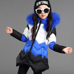 Wholesale winter coats girls resale online - 2018 Girls Winter Down Coat Long Hooded Parka Thick Outwear for Kids Christmas Chirldren Clothing Full Sleeve Coats and Jackets