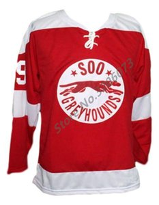 Wholesale #99 Wayne Gretzky Soo Greyhounds Retro Classic Ice Hockey Jersey Mens Stitched Custom any number and name Jerseys