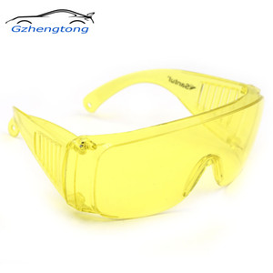 Gzhengtong 1Pcs Yellow Automotive Air Conditioning Leak Detector Glass UV Protection Adjustable Safety Glasses UV 400