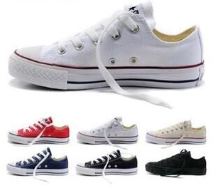 Wholesale NEW size35 New Unisex Low Top High Top Adult Women s Men s star Canvas Shoes colors Laced Up Casual Shoes Sneaker shoes