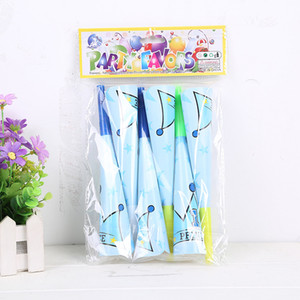 Wholesale Party supplies boy blue prince theme party birthday party decoration HORN with cartoon pattern