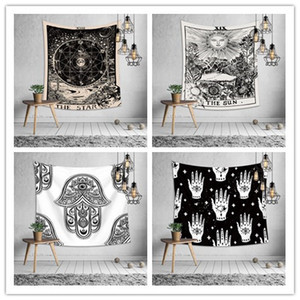 Euramerican divination astrology tapestry bedroom wall hanging decoration printing tablecloth bed sheet yoga mat beach towel party backdrop
