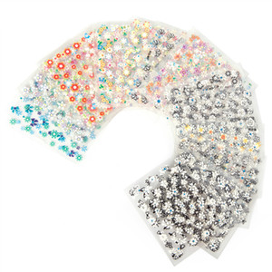 Wholesale 50 Sheets D Nail Art Stickers Decals High Quality Mix Color Flowers Design Nail Tips Decoration Manicure DIY Tools