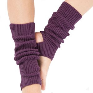 Wholesale 1 Pair Woman Professional Yoga Socks Ladies Calf Knitted Boot Cover for Latin Dance Pilates Ballet Gym Fitness