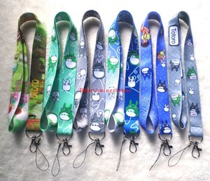 Wholesale 100 My Neighbor Totoro Anime key lanyards id badge holder keychain straps for mobile phone