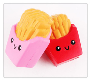 Wholesale rubber chips resale online - Slow Rising French Fries Squishy Potato Chip Scent Imitation Toy De stress Pretty Phone Pendant