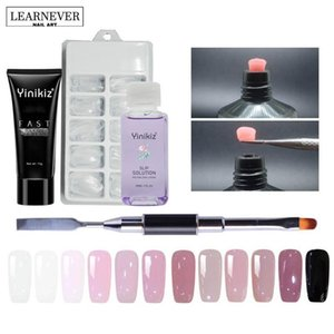 Wholesale 12 Colors Poly Gel Set Uv Builder Gel Nail Liquid Slip Solution Nail ABuilder Modle Polygel Tools NQT7399