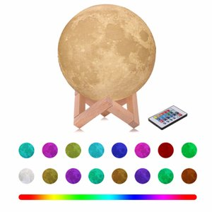Wholesale 3D Moon Light Touch Sensor Remote Control Bedroom Novelty Night Moon Lamp LED For Baby Kids Christmas Children s Nightlight