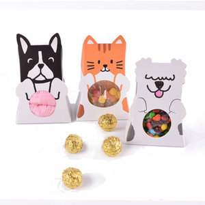 Wholesale 90 X Cute Black White Yellow Cartoon Animal Dog Candy Box Wedding Party Christmas Decor New Year Kids Birthday Shower Favor Gift