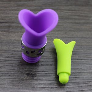 New lily wine bottle stoppers silicone bottle caps approved food grade durable wine pourer bar tools beer accessoriesZI-311