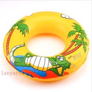 Wholesale Classic mixed colors cartoon crocodile Dolphin Child swimming ring life buoy inflatable armpit swim ring waist circle 50--90cm