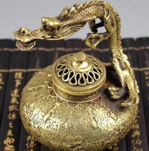 Wholesale ZSR Pure copper brass handicrafts gifts Daming Xuan portable dragon burnerHome Furnishing jewelry