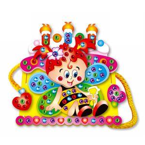 1pcs Colorful Kids Baby Assembly Toy EVA Cartoon DIY Handmade Handbag Bag Diamond Educational Toys for Girls Random Pattern