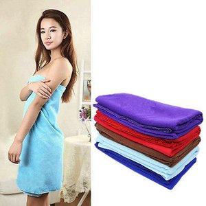 Wholesale 80 cm Functional Soft Absorbent Microfiber Beach Bath Towel Travel Gem Quick Dry Towels New