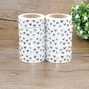 Wholesale 10x Foil Washi Tape Heart Japanese meter Kawaii Scrapbooking Tools Masking Tape