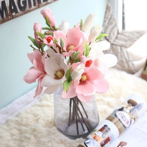 Magnolia Artificial Flower Elegant Silk Simulation Flowers Home Furnish Decor Wedding Ceremony Supply Arts And Crafts Factory Direct gg