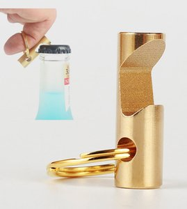 Wholesale Pure Brass Bottle Opener Beer Bottle Screwdriver Keychain Pendant Outdoor Portable EDC Gadget Creative Support FBA Drop Shipping G857F