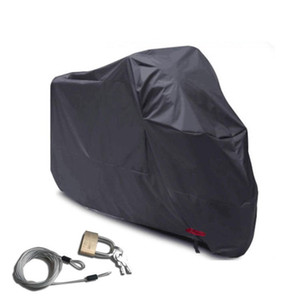 Anti UV Motorcycle Cover Safety Dustproof Sun Protection Outdoor Supplies With Buckle Elastic Band Electric Car Hood Black 36yhs B
