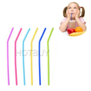Wholesale Reusable Flexible Silicone Smoothie Straws Drinking Straws STANDARD WIDTH mm for Safely Drinking Hot Cold Drinks Cups Mugs