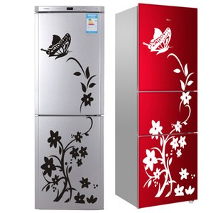 Wholesale 2018 High Quality Wall Sticker Creative Refrigerator Sticker Butterfly Pattern Wall Stickers Home Decor Wallpaper