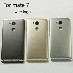 Wholesale Original New Battery Door Back Cover Housing Case For Huawei Mate mate7 With Camera Lens Power Volume Buttons with logo
