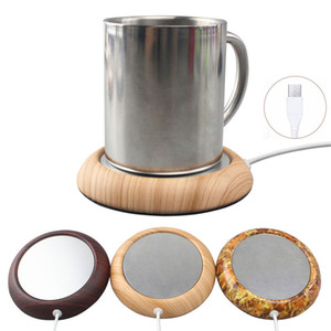 Wholesale USB Cup Warmer Metal Coaster Portable Office Home USB Electric Powered Desktop Tea Coffee Beverage Cup Mug Warmer Mat Pad Aluminium Plate