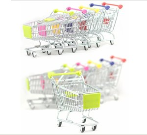 Wholesale artwares Cute Cart Mobile Phone Pen remote Control Holder Flower Case Supermarket office Handcart Shopping Cart colors Christmas Gift