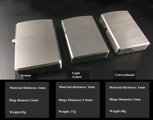 Titanium TC4 Oil Lighter Sleeve Case Heavy Armor   Light Armor   Conventional Shell Durable Brushed Stonewashed Flamed Finishing for Option