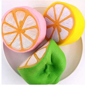 Hot Jumbo Squishy Half Lemon Fruit Scented Super Slow Rising Keyring Kid Fun Toy Gift Pink Yellow Green Random Color