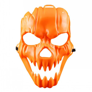 Wholesale halloween props terror masks resale online - Halloween Cosplay Pumpkin Mask Costume Party Props Plastic Fancy Mask Scary Full Face Horror Mask Funny Terror