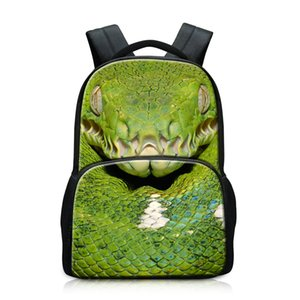 ingrosso zaino serpente-Crea il tuo Snake Patterns su School Backpack Fashion Light Bookbag per College Student Personalized Large Computer Package for Teens