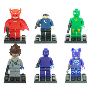 6Pcs 5cm PJ masks Characters Catboy Action Figure Toys Building Blocks Sets Classic Best Toy Children Gift on Sale