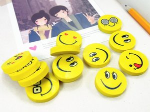 Wholesale Cute smiling face emoji eraser smile lovely eraser funny face smile style rubber Kids gift creative stationery